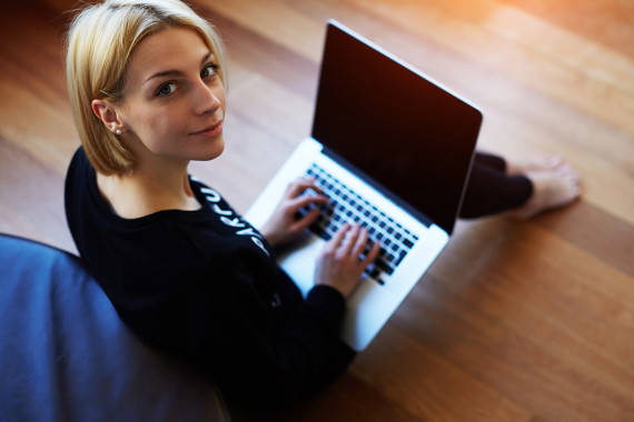 Young Woman Working Toward Her Counseling Certification Online