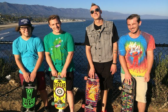 Young Adults Skateboarding as Part of Teen Drug Rehab Program