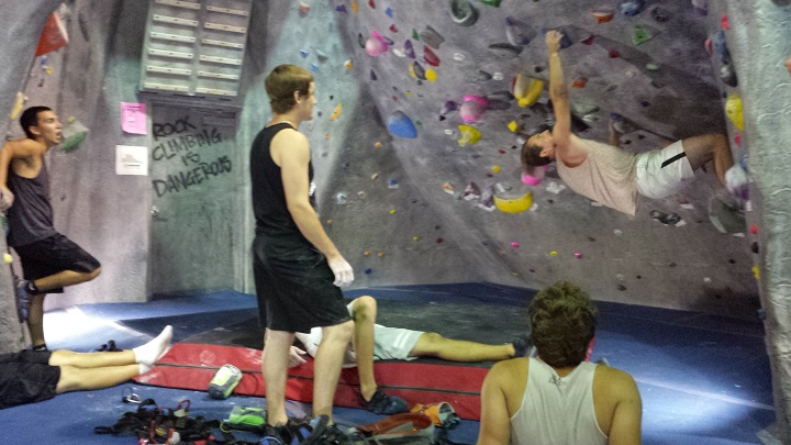 rock climbing to new heights