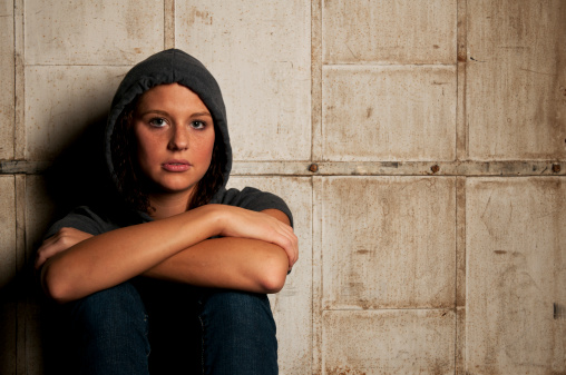 Young Female Struggling with Teen Substance Abuse