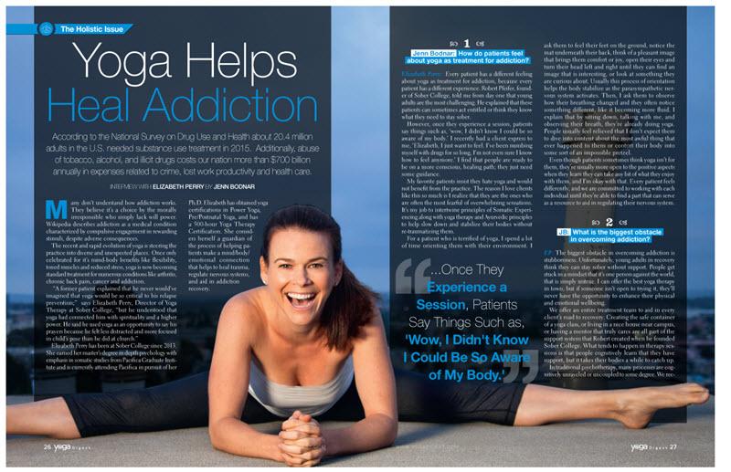 yoga helps heal addiction