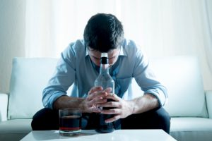 Man Trying to Understand the Causes of Alcoholism