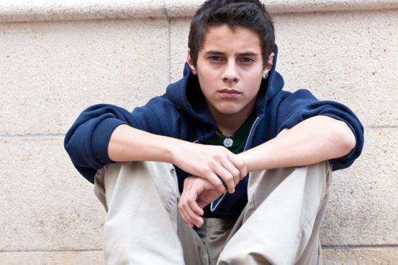 Serious Hispanic Teenager